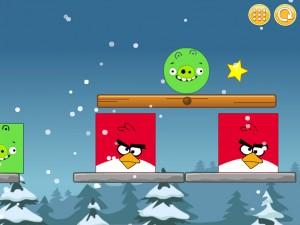 Онлайн Игра Злые птицы: Сбрось зеленых свиней (Angry Birds Throw green pigs) (изображение №6)