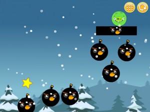 Онлайн Игра Злые птицы: Сбрось зеленых свиней (Angry Birds Throw green pigs) (изображение №7)