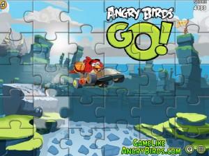 Онлайн Игра Злые птицы Вперед! Пазлы  (Angry Birds Go! Jigsaw) (изображение №3)
