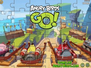 Онлайн Игра Злые птицы Вперед! Пазлы  (Angry Birds Go! Jigsaw) (изображение №4)