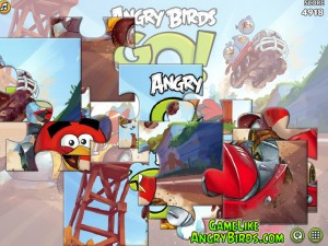 Онлайн Игра Злые птицы Вперед! Пазлы  (Angry Birds Go! Jigsaw) (изображение №7)