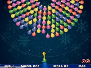Онлайн игра Рождественская стрельба шариками (Bubble shooter rotation xmas) (изображение №2)