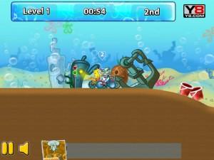 Онлайн игра Спанч Боб и друзья гонки на велосипедах (Sponge Bob cycle race) (изображение №4)