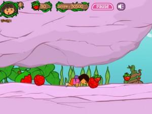 Онлайн игра Даша в клубничном мире (Dora strawberry world) (изображение №2)