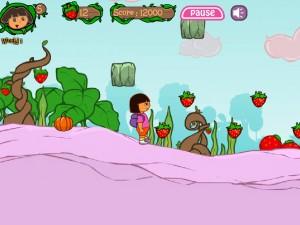 Онлайн игра Даша в клубничном мире (Dora strawberry world) (изображение №3)