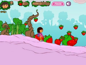 Онлайн игра Даша в клубничном мире (Dora strawberry world) (изображение №5)
