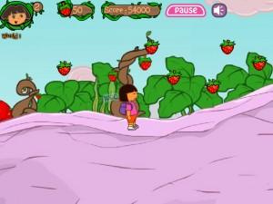 Онлайн игра Даша в клубничном мире (Dora strawberry world) (изображение №8)
