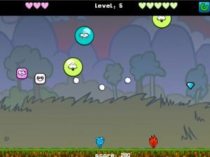 Онлайн игра Мальчик-огонь и девочка-вода против инопланетянина (Fireboy Water Girl VS Alien) (изображение №6)