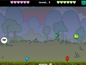 Онлайн игра Мальчик-огонь и девочка-вода против инопланетянина (Fireboy Water Girl VS Alien) (изображение №7)