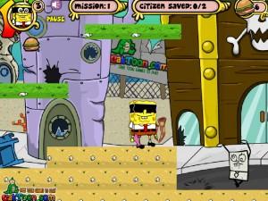Онлайн игра Спанч Боб в маске (Sponge bob m-mask) (изображение №5)