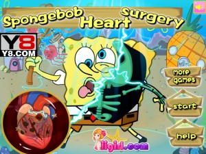 Онлайн игра Спанч-Боб: операция на сердце (Spongebob Heart Surgery) (изображение №6)