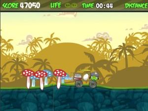 Онлайн Игра Злые птички - мотоцикл-ракета (Angry birds - rocket jet) (изображение №3)