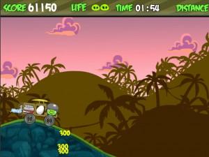 Онлайн Игра Злые птички - мотоцикл-ракета (Angry birds - rocket jet) (изображение №4)