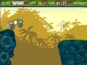 Онлайн Игра Злые птички - мотоцикл-ракета (Angry birds - rocket jet) (изображение №5)