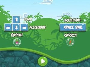Онлайн Игра Злые птички - мотоцикл-ракета (Angry birds - rocket jet) (изображение №2)