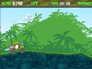 Онлайн Игра Злые птички - мотоцикл-ракета (Angry birds - rocket jet) (изображение №6)