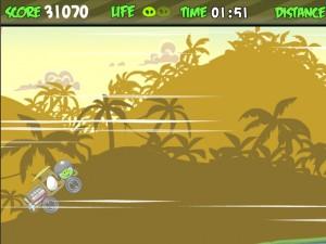 Онлайн Игра Злые птички - мотоцикл-ракета (Angry birds - rocket jet) (изображение №8)
