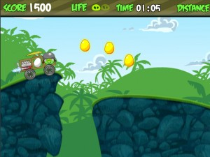 Онлайн Игра Злые птички - мотоцикл-ракета (Angry birds - rocket jet) (изображение №7)
