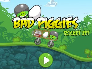 Игра Злые птички - мотоцикл-ракета