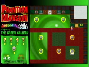Онлайн игра Замок с привидениями 4 (Phantom Mansion Chapter 4 The Green Gallery) (изображение №6)