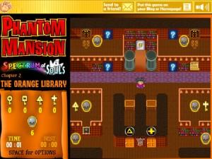 Онлайн игра Замок с привидениями 2 (Phantom Mansion Chapter 2 The Orange Library) (изображение №4)