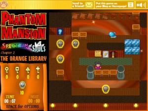 Онлайн игра Замок с привидениями 2 (Phantom Mansion Chapter 2 The Orange Library) (изображение №5)
