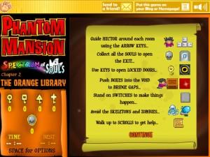 Онлайн игра Замок с привидениями 2 (Phantom Mansion Chapter 2 The Orange Library) (изображение №11)