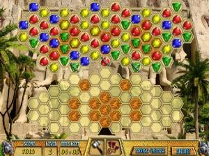 Онлайн игра Древние драгоценности Клеопатры  (ANCIENT JEWELS 3: CLEOPATRA) (изображение №2)