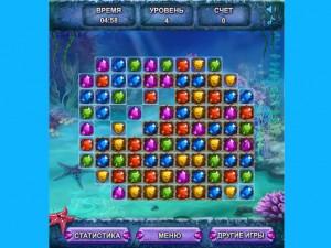 Онлайн игра Морские сокровища  (SEA TREASURE MATCH) (изображение №3)