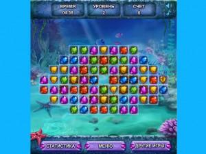 Онлайн игра Морские сокровища  (SEA TREASURE MATCH) (изображение №4)