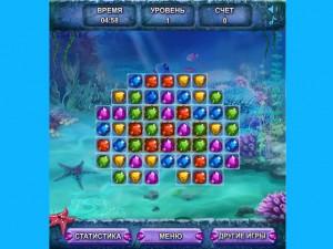 Онлайн игра Морские сокровища  (SEA TREASURE MATCH) (изображение №6)