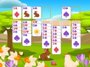 Онлайн игра Пасьянс Классический, Пасха  (Solitaire Classic Easter) (изображение №3)