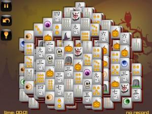 Онлайн игра Маджонг: Хэллоуин  (Halloween - Mahjong) (изображение №13)