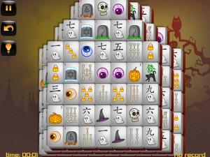 Онлайн игра Маджонг: Хэллоуин  (Halloween - Mahjong) (изображение №12)