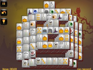 Онлайн игра Маджонг: Хэллоуин  (Halloween - Mahjong) (изображение №9)