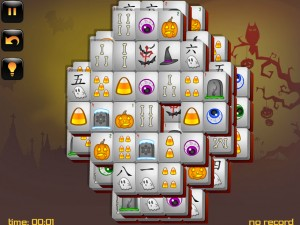 Онлайн игра Маджонг: Хэллоуин  (Halloween - Mahjong) (изображение №8)