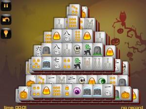 Онлайн игра Маджонг: Хэллоуин  (Halloween - Mahjong) (изображение №7)