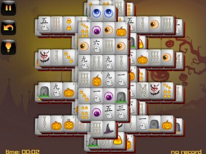 Онлайн игра Маджонг: Хэллоуин  (Halloween - Mahjong) (изображение №3)