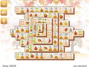 Онлайн игра Маджонг: Осенний  (Fall Mahjong) (изображение №4)