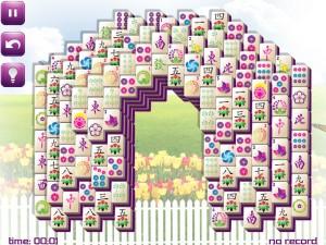 Онлайн игра Маджонг: Весенний  (Spring Mahjong) (изображение №3)