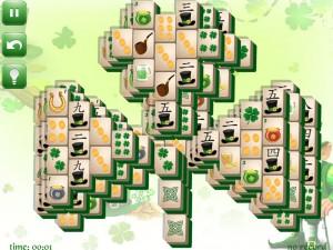Онлайн игра Маджонг: День Святого Патрика  (St. Patrick's Day Mahjong) (изображение №1)