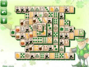Онлайн игра Маджонг: День Святого Патрика  (St. Patrick's Day Mahjong) (изображение №4)