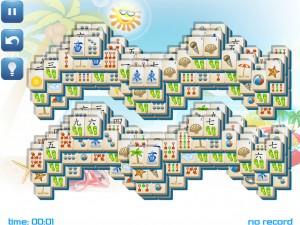 Онлайн игра Маджонг: Летний (Summer Mahjong) (изображение №3)