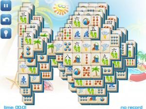 Онлайн игра Маджонг: Летний (Summer Mahjong) (изображение №10)