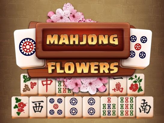 маджонг цветы играть онлайн