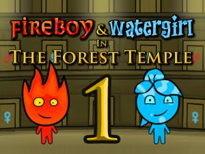 Онлайн игра Огонь и Вода: В Лесном храме (Fireboy and Watergirl in The Forest Temple) (изображение №1)
