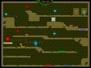 Онлайн игра Огонь и Вода: В Лесном храме (Fireboy and Watergirl in The Forest Temple) (изображение №4)