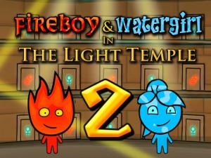 Онлайн игра Огонь и Вода 2: В Храме Света (Fireboy and Watergirl in The Light Temple) (изображение №1)