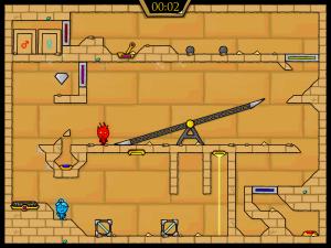Онлайн игра Огонь и Вода 2: В Храме Света (Fireboy and Watergirl in The Light Temple) (изображение №5)