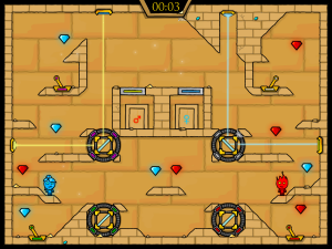 Онлайн игра Огонь и Вода 2: В Храме Света (Fireboy and Watergirl in The Light Temple) (изображение №4)